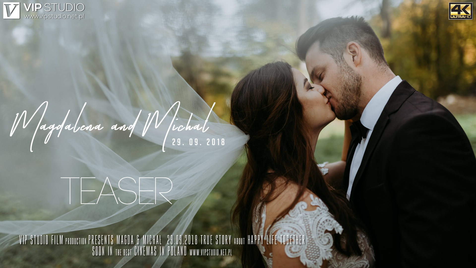 WEDDING TEASER – Magdalena & Michał (4K UHD)