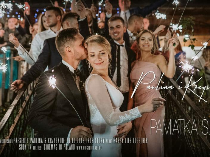 PAMIĄTKA ŚLUBU - Paulina & Krzysztof - Oberwanka Łostówka